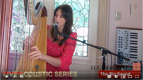 Harpist Lucinda Belle