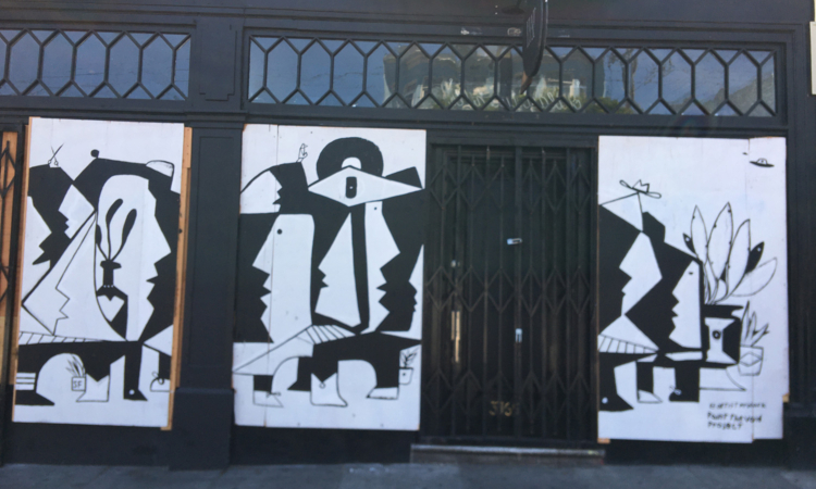 Covid Coverup: Plywood Art During the Pandemic. Photographs by Mark Scheuer